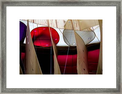 Circles Within Circles - Inside A Hot Air Balloon Framed Print