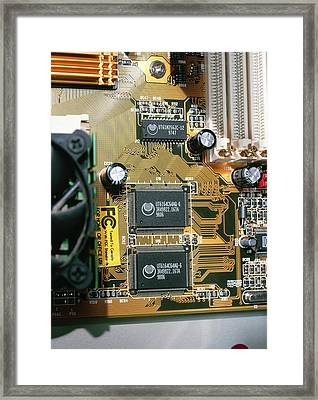 Circuit Board Framed Print by Andrew Lambert Photography