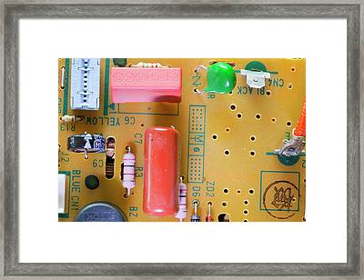 Circuit Board Framed Print by Ashley Cooper