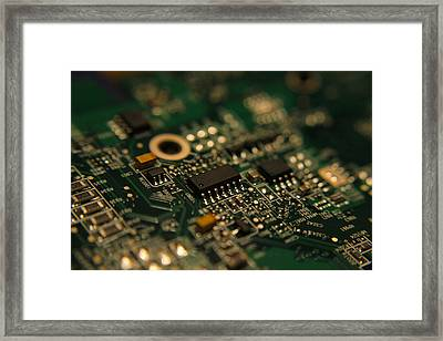 Circuit Board Framed Print by Richard Stephen