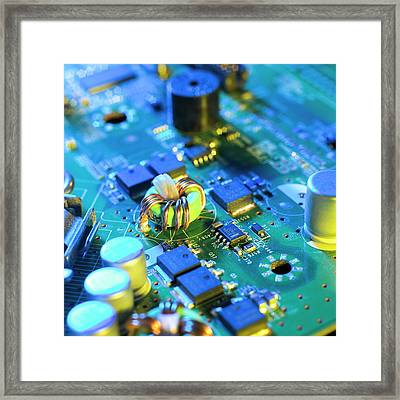 Circuit Board Framed Print by Science Photo Library