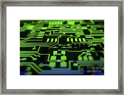 Circuit Board Framed Print by Science Picture Co