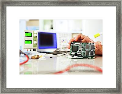 Circuit Board Framed Print