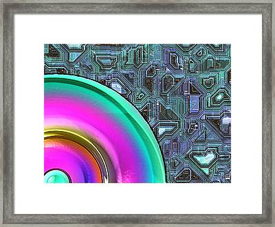 Circuit Central Framed Print by Wendy J St Christopher