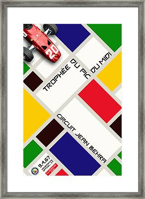 Circuit Jean Behra French Grand Prix 1967 Framed Print by Georgia Fowler