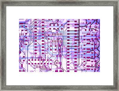 Circuit Trace II Framed Print by Jerry McElroy