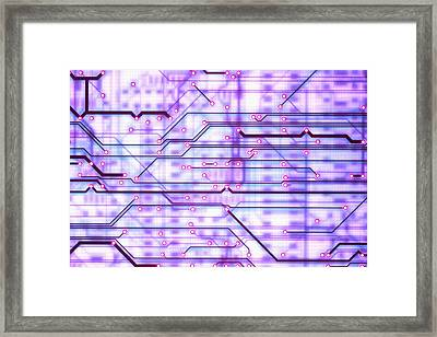 Circuit Trace Framed Print by Jerry McElroy