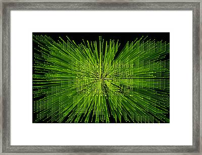 Circuit Zoom Framed Print by Jerry McElroy
