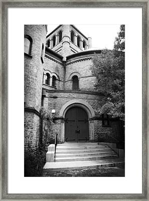 Circular Church Of Charleston Sc Framed Print