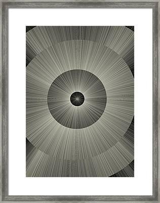Circular Design Framed Print by Paul Sale Vern Hoffman