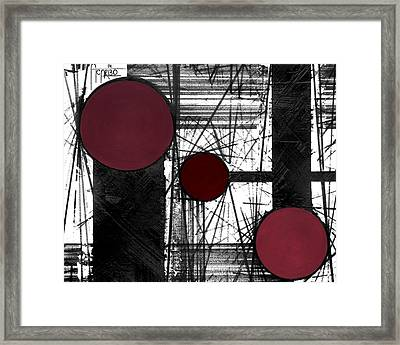 Circular Lines Framed Print by Andres Carbo