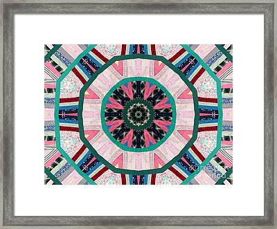 Circular Patchwork Art Framed Print by Barbara Griffin