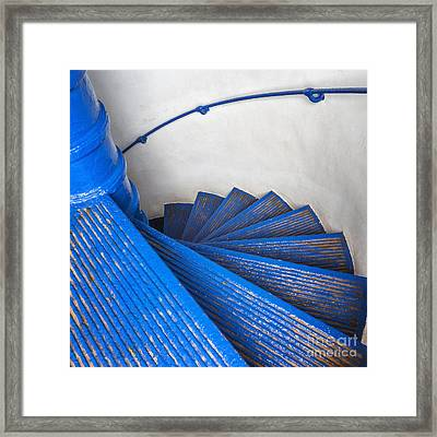 Framed Print featuring the photograph Circular Staircase At Arecibo Lighthouse In Puerto Rico by Bryan Mullennix