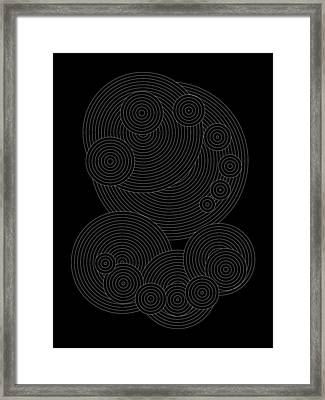 Circular Sunday Inverse Framed Print by DB Artist