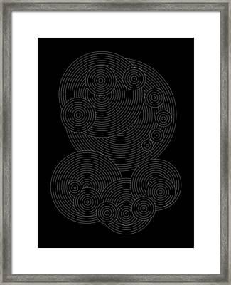Circular Sunday Inverse Framed Print