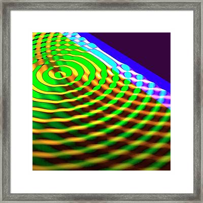 Circular Wave Reflection Framed Print by Russell Kightley