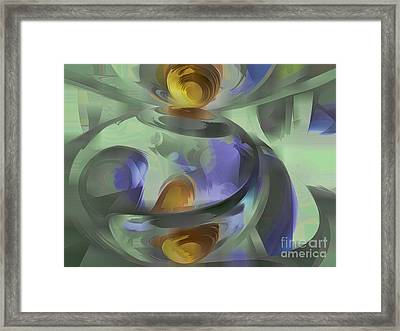 Circumvoluted Pastel Abstract Framed Print by Alexander Butler