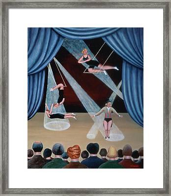 Circus Acrobats Framed Print by Jerzy Marek