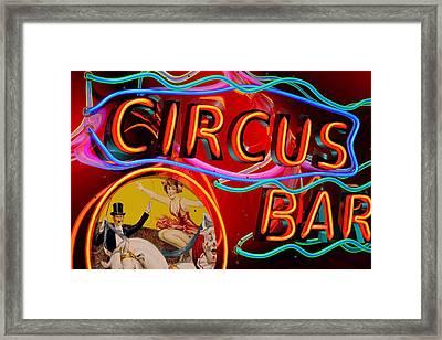 Circus Bar Framed Print