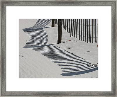 Circus Beach Fence Framed Print