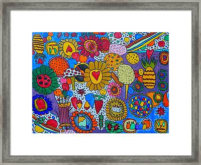 Circus Framed Print by Artists With Autism Inc