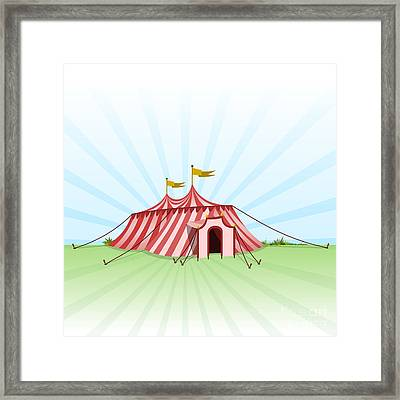 Circus Entertainment Tent Framed Print