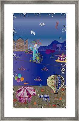Circus Juggler Framed Print