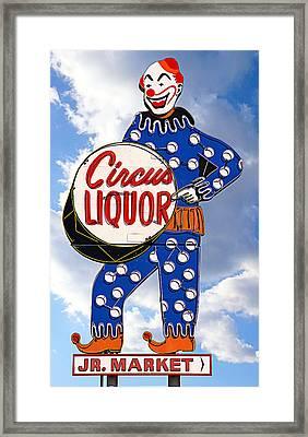 Circus Liquor Framed Print by Ron Regalado