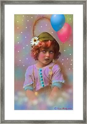 Circus Pixie Framed Print by Karen Morley