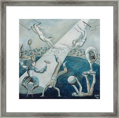 Circus Scene I, 1994 Wc On Paper Framed Print