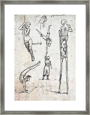 Circus Studies Framed Print