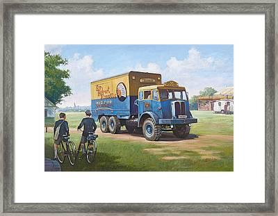 Circus Truck Framed Print