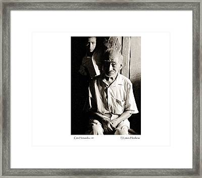 Framed Print featuring the photograph Cirio Hernandez by Tina Manley