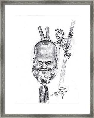 Cirku I Tiranes Me Edi Rama Dhe Sali Berisha Framed Print