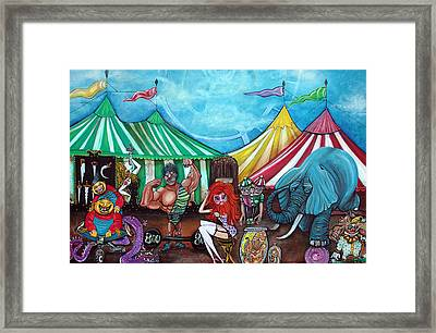 Cirque De Freaks Framed Print by Laura Barbosa