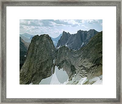 209615-cirque Of Towers, Wind Rivers, Wy Framed Print