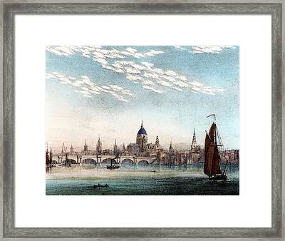 Cirro-cumulus Cloud In Summer Framed Print by Universal History Archive/uig