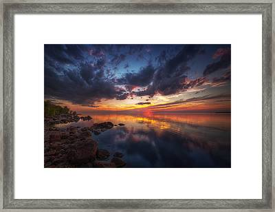 Cirrus Reflections Framed Print