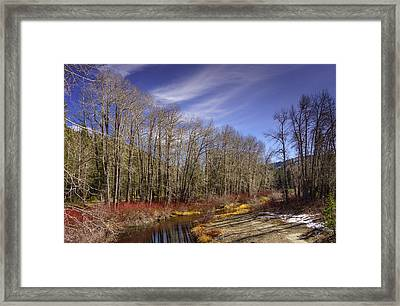 Cisco Grove In Early Winter Framed Print
