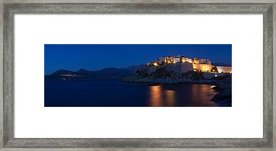 Citadel At The Waterfront, Calvi Framed Print by Panoramic Images