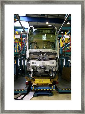 Citadis Tram On Its Assembly Line Framed Print by Andrew Wheeler