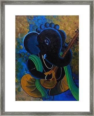 Citar Ganesha Framed Print