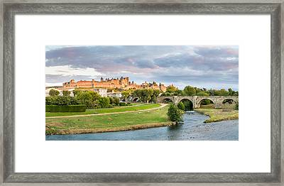 Cite De Carcassonne Seen From Pont Framed Print by Panoramic Images