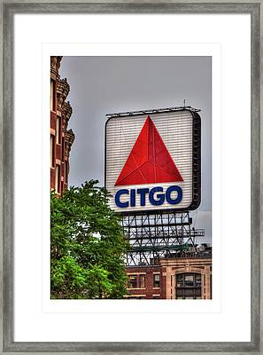 Citgo Sign Bordered Framed Print by Joann Vitali