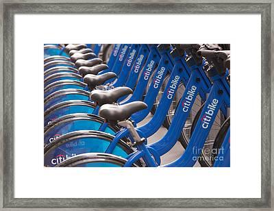 Citi Bike Bicycles I Framed Print
