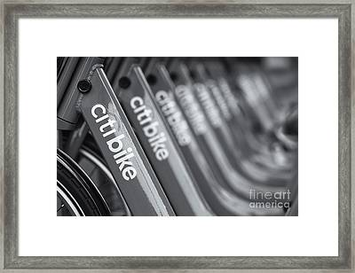 Citi Bike Bicycles Vi Framed Print