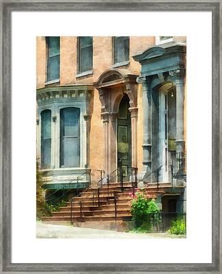 Cities - Albany Ny Brownstone Framed Print