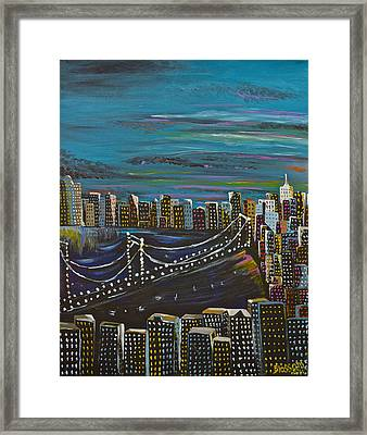 Citiscape Framed Print by Donna Blossom