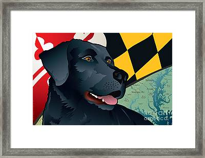 Maryland Black Lab Framed Print