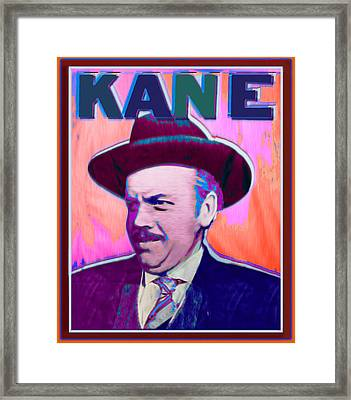 Citizen Kane Orson Welles Campaign Poster Color Framed Print by Tony Rubino